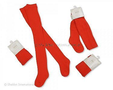 Baby Cotton Tights - Red - Wholesale