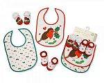 Wholesale Christmas Bibs and Socks 4 pcs Set - 0688