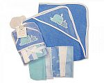 Wholesale Boys Hooded Towel and Wash Cloth Set - Whale