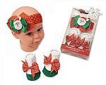 Wholesale Headband and Socks Set - Santa