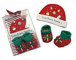 Wholesale Hat and Booties Cotton Gift Set - Love from Santa