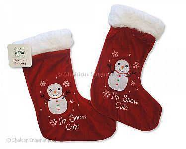 Baby Christmas Stocking - Snowman - Wholesale