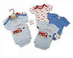 Baby 3 pcs Bodysuit Gift Set - Fire Engine - 6-18 Months