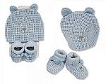 Baby Hat and Booties Set - Boys