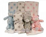 Wholesale Teddy Toy with Blanket in Box - Stars