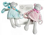 Baby Activity Bear Toy with Clip, Rattle and Teether