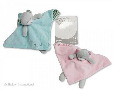 Baby Bear Comforter with Rattle - Wholesale