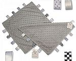 Baby Dotted Comforter with Tags - Grey