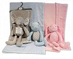 Wholesale Blanket with Plush Toy - Teddy, Bunny, Elephant