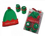 Wholesale Hat and Booties Christmas Gift Set - Elf