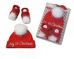 Wholesale Hat and Booties Christmas Gift Set - My First Christmas