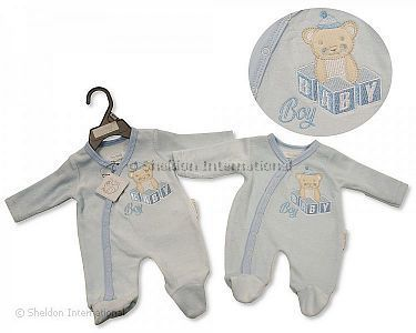 Premature Baby Boys Velour All in One - Baby Boy - Wholesale