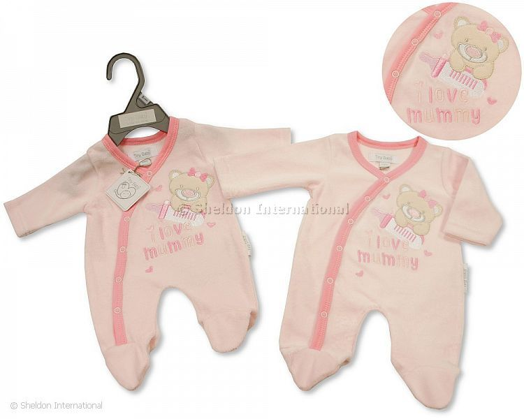 Premature baby girl I love cuddles pink 3 piece set babygrow bib blanket 3-8lbs