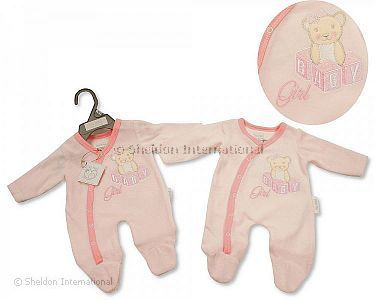 Premature Baby Girls Velour All in One - Baby Girl - Wholesale