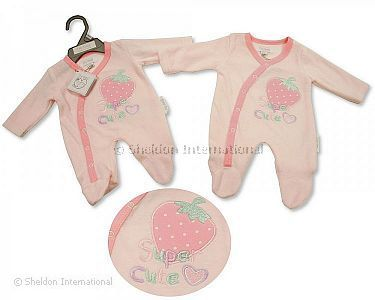 Premature Baby Girls Velour All in One - Super Cute - Wholesale