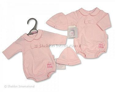 Premature Baby Girls Romper with Hat - Little Love - Wholesale