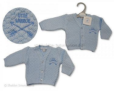 Premature Baby Boys Knitted Cardigan - Little Warrior - Wholesale