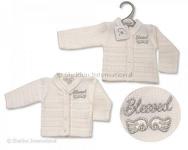 Premature Baby Knitted Cardigan - Blessed - Wholesale